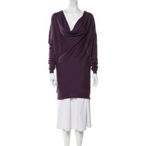 Lanvin 100% Cashmere Cowl Neck Sweater Dress